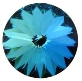 Swarovski Rivoli 12 mm Crystal Bermuda Blue (per stuk)