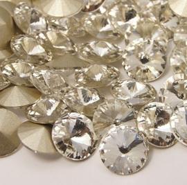 Glass Rivoli 14 mm Crystal (per 2)