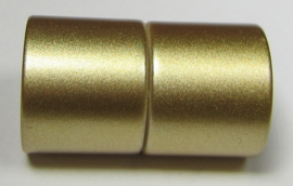 Magnetic Clasp Acrylic Mat Gold 26 x 15 mm Hole 12 mm S936 (per 1)
