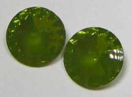 Resin Rivoli 16 mm Khaki Green Opal (per 2)