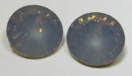 Resin Rivoli 16 mm Grey Opal (per 2)