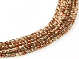 Druk Beads Crystal Sunset 2 mm (30 cm strand)