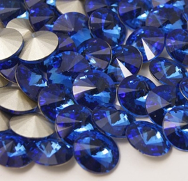 Glas Rivoli 14 mm Sapphire (per 2)