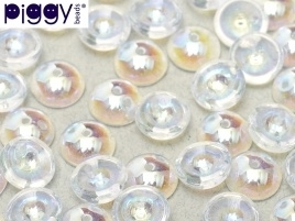 Piggy Beads 4 x 8 mm Crystal AB (per 18)