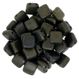 CzechMates Tiles Metallic Suede - Dk. Green (per 10)
