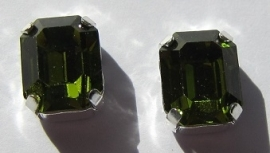 Swarovski 4600 10 x 8 mm Olivine Sew On (per stuk)