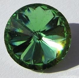 Glass Rivoli 18 mm Light Green G485 (per 1)