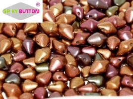 Spiky Button 4,5 x 6,5 mm Purple Iris Gold (per 25)