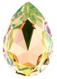 Swarovski Druppel 4320 14 x 10 mm Crystal Luminous Green (per stuk)