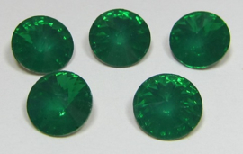 Resin Rivoli 8 mm SS39 Emerald Opal (per 5)