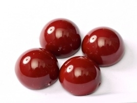 Dome Beads 14 x 8 mm Cranberry (per 5)