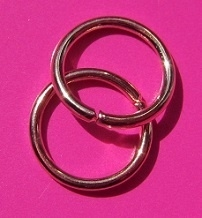 Ring Enkel 8 mm H278 R (per 5 gram)