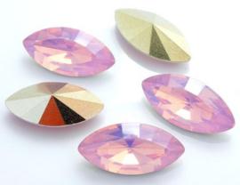 Resin Navette 7 x 15 mm Pink Opal (per 3)