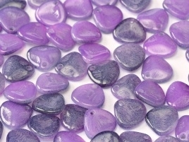 Rose Petals 8 x 7 mm Alabaster Funky Purple (per 22)