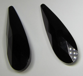 Glass Drop 75 x 21 mm Black (per 1)