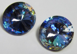 Glass Rivoli 12 mm Rainbow Blue (per 1)