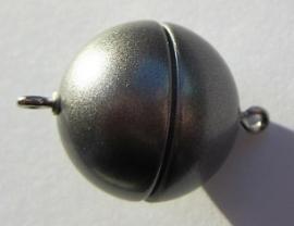 Magnetic Clasp Acrylic Mat Granite 18 mm S528 (per 1)