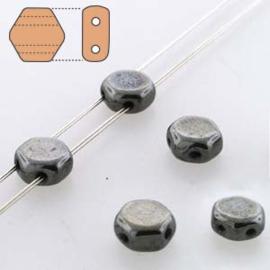 Honeycomb 6 mm Hematite (per 30)