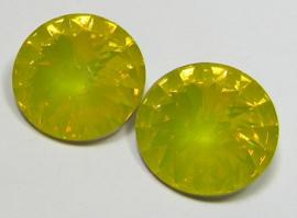 Resin Rivoli 16 mm Yellow Opal (per 2)