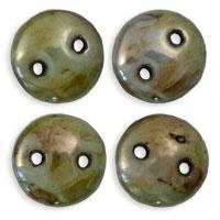 CzechMates Lentils Opaque - Ultra Luster Green (per 32)