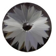 Swarovski Rivoli 12 mm Crystal Silver Night (per 1)