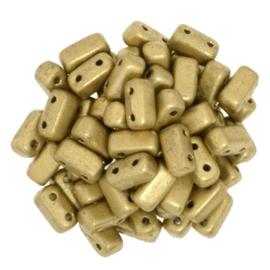 CzechMates Bricks Matte Metallic Flax (per 10)
