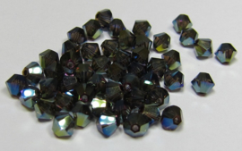 Swarovski Bicone 4 mm Crystal Iridescent Green 2X (per 50)