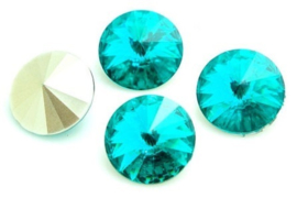 Resin Rivoli 16 mm Blue Zircon (per 2)