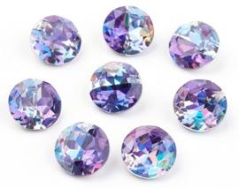 Glass Chaton SS39 Grade A Rainbow Purple (per 3)
