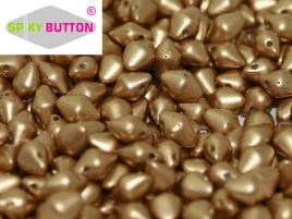 Spiky Button 4,5 x 6,5 mm Aztec Gold (per 25)