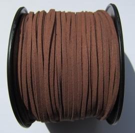 Suede Imitation 3 mm Brown SU008 (1 meter)