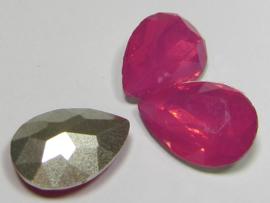 Resin Drop 13 x 18 mm Bright Rose Opal (per 1)