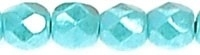 Fire Polished 3 mm Luster - Sky Blue Coral (per 75)
