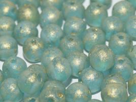 RounDuo® Beads 5 mm Aqua Gold Patina (per 16)