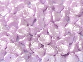 Flower Cup Beads 7 x 5 mm Alabaster Pastel Lt.Rose (per 16)