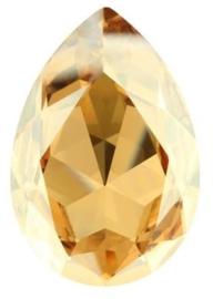 Swarovski Druppel 4327 30 x 20 mm Crystal Golden Shadow (per stuk)