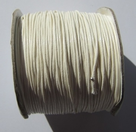 Waxed Cord 1 mm Ivory White W054 (1 meter)