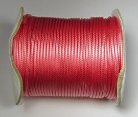 Waxkoord 2 mm Pink Coral W138 (per meter)