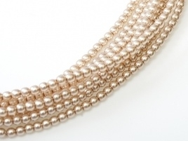 Glass Pearls Beige 2 mm *47 (36 cm strand)