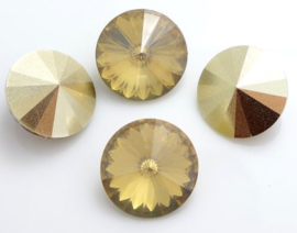 Resin Rivoli 16 mm Champagne (per 2)