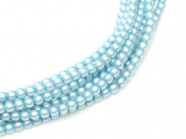Glasparel Matted Turquoise Satin 3 mm (per 44 cm streng)