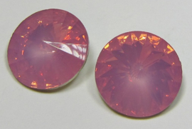 Resin Rivoli 16 mm Dark Rose Opal (per 2)