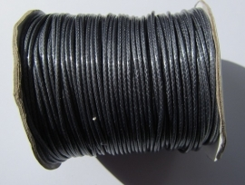 Waxed Cord 2 mm Dark Navy Blue W014 (1 meter)