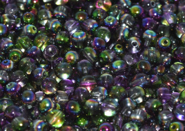 Druk Beads 8 mm Crystal Magic Orchid (per 10)