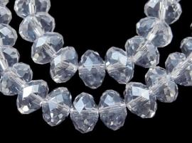 Facet Rondel 3 x 4 mm Luster Crystal F814 (per 148 kralen)