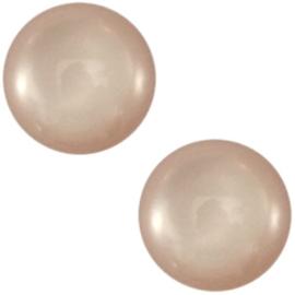 Polaris Cabochon Coin 12 mm Shiny Soft Greige (per 1)