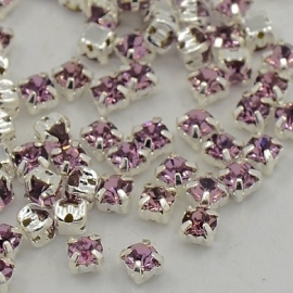 Chaton Montees SS12 3 mm Light Amethyst (per 25)