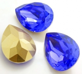 Resin Druppel 18 x 25 mm Dark Tanzanite (per stuk)