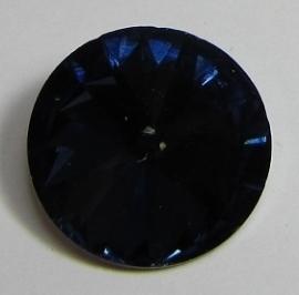 Glass Rivoli 18 mm Dark Indigo G537 (per 1)