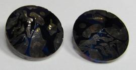 Glass Rivoli 14 mm Blue Patina (per 1)